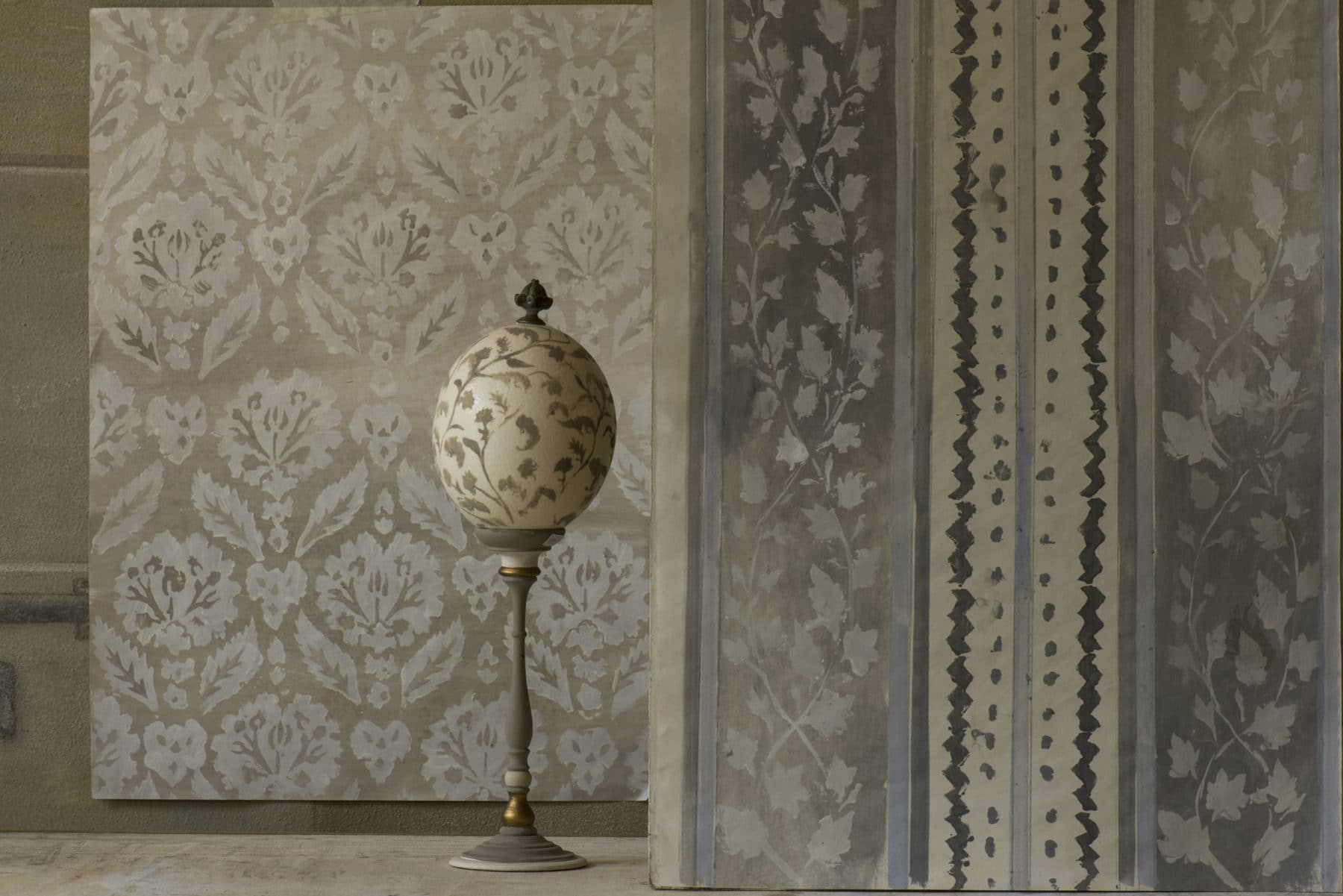 A decoration, hand painted papers and furnishings by Quadrature Interiors