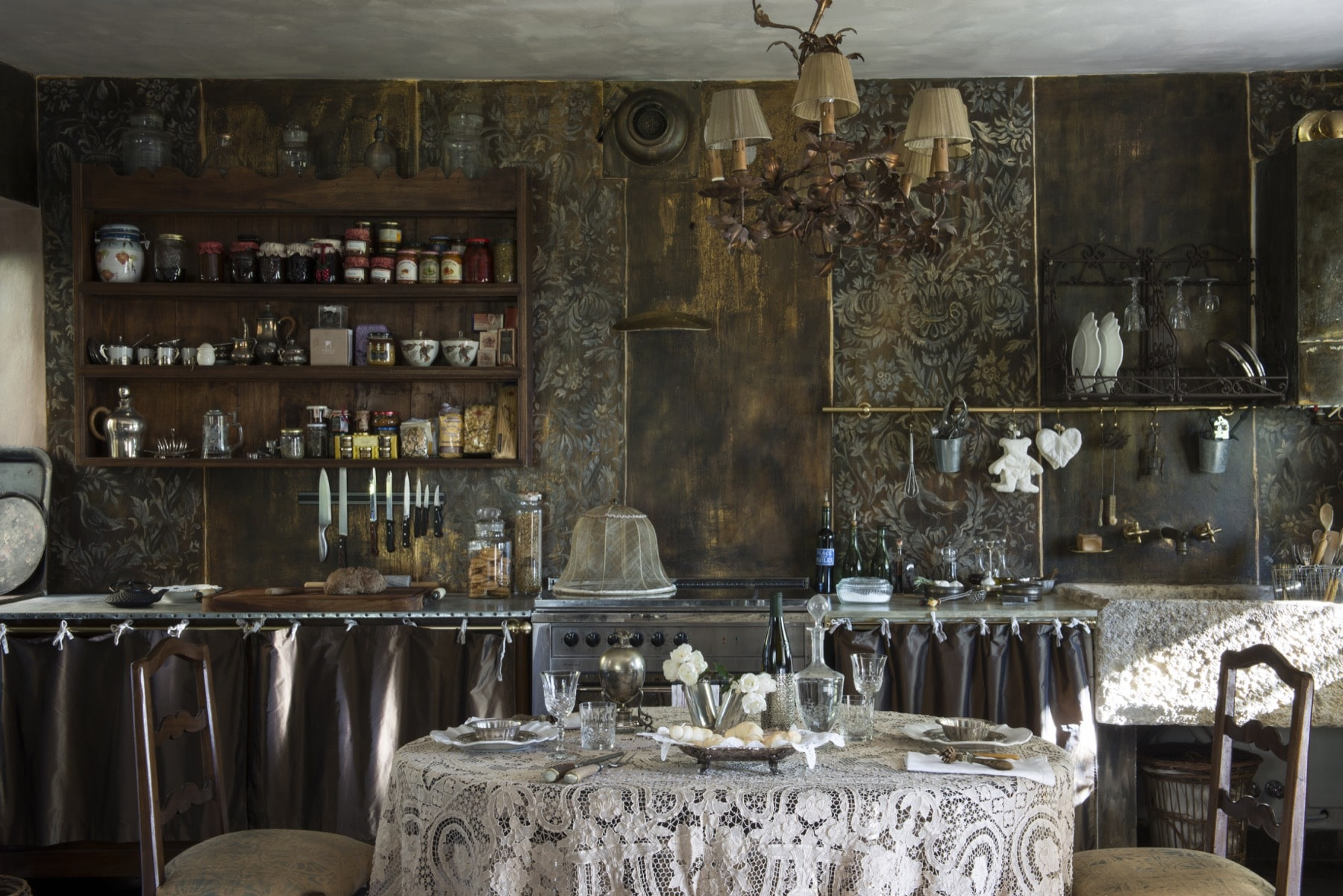 View on the kitchen of Le Selve — Quadrature Interiors