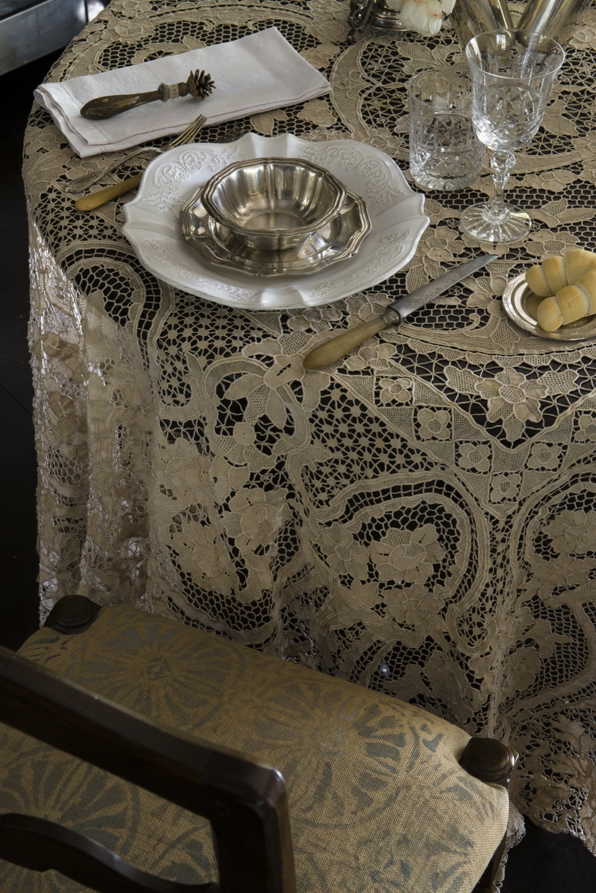 Detail of the kitchen of Le Selve — Quadrature Interiors